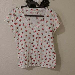 Strawberry Printed Cotton Tee